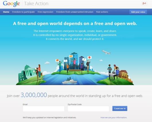 Google Take Action