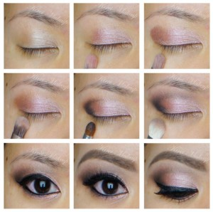 Kirei Makeup, Rose smokey UD Naked 3 palette