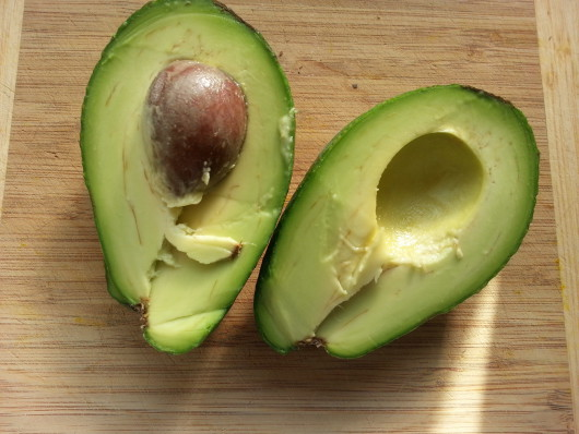 Avocado, healthy low in cholesterol and sodium