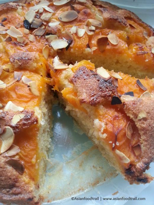 Apricot Almond Cake - Plate