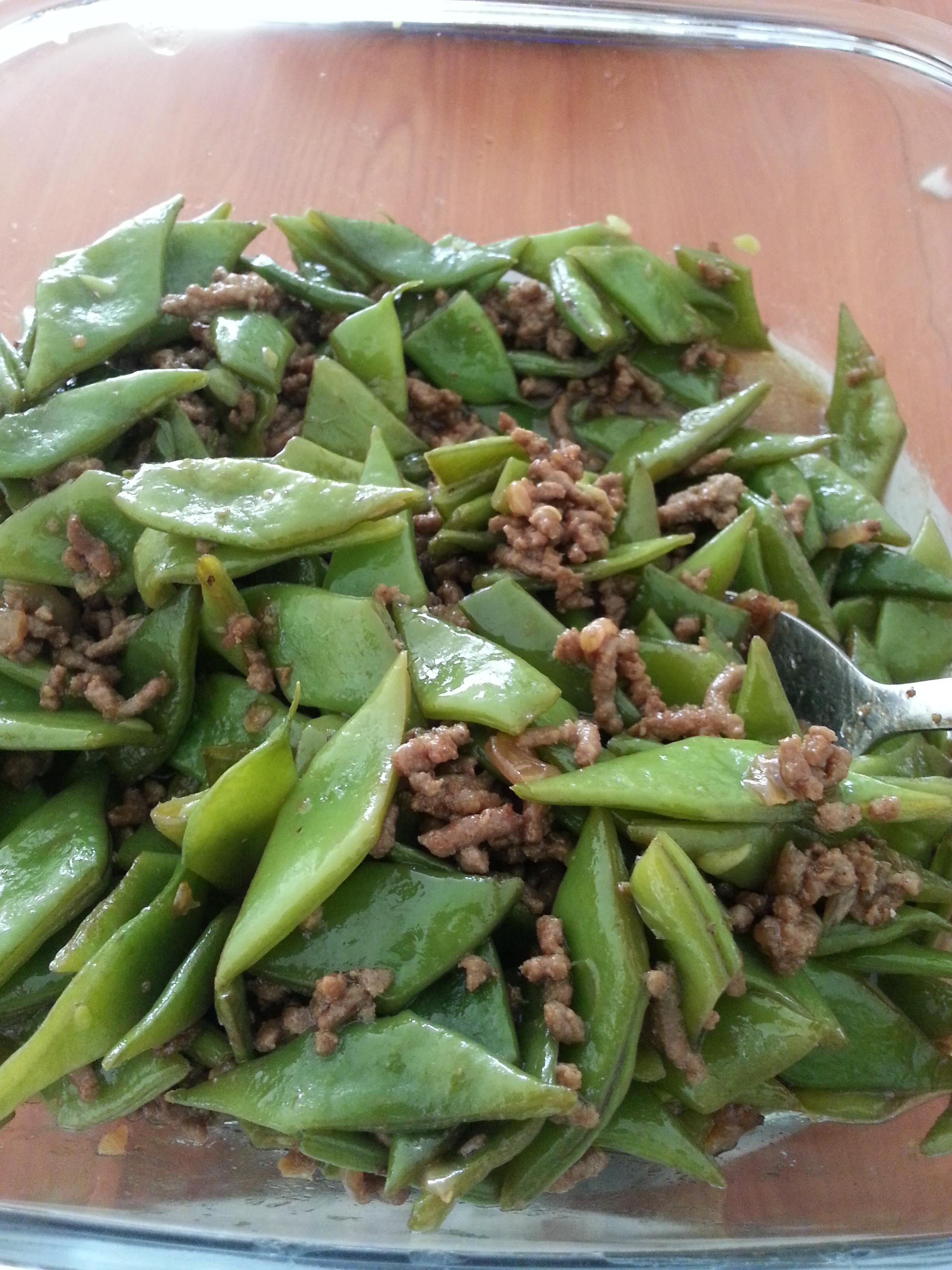 Chinese Archives Asianfoodtrail Bumbu Nasi Hainan Veggie Way Hainam Vegan Flat Beans Stir Fry With Ground Pork Bean Sauce Recipe