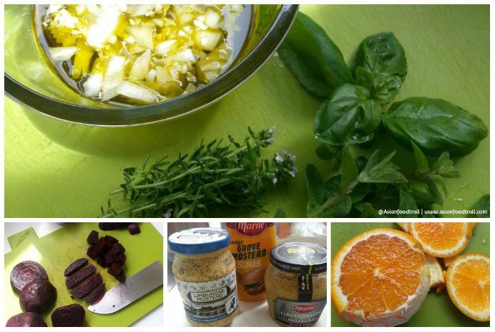 Beetroot Salad Orange, Feta, Mint 1