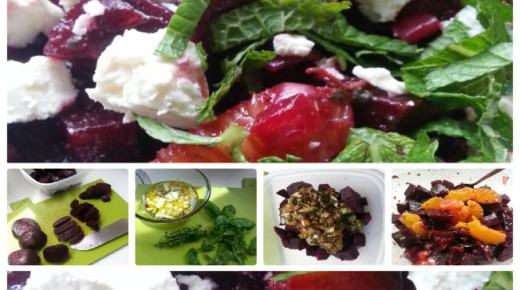 Red Beet Salad recipe with orange, feta cheese, mint