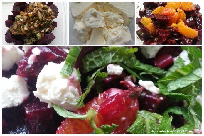 Red Beet salad Orange, Feta, Mint 2