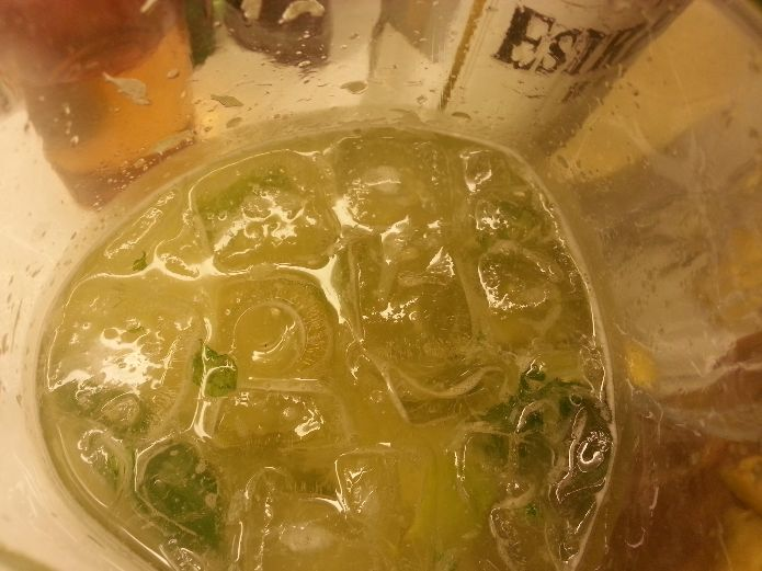 Muddle the lime, mint and sugar to extract and blend the flavors, add ice and soda.