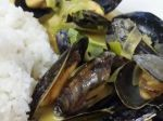Mussels with Thai red curry