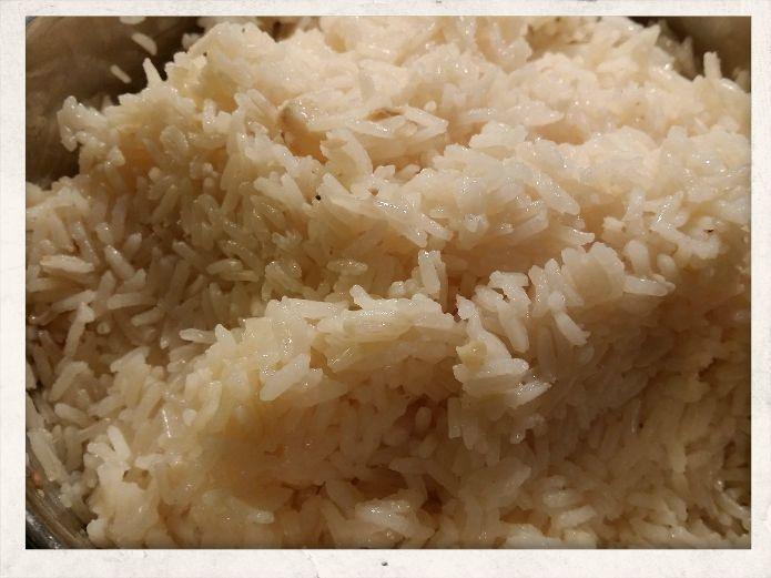 Hainan Chicken rice - plump rice kernels full of flavor