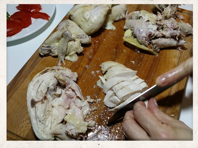 Slice the breasts in portions