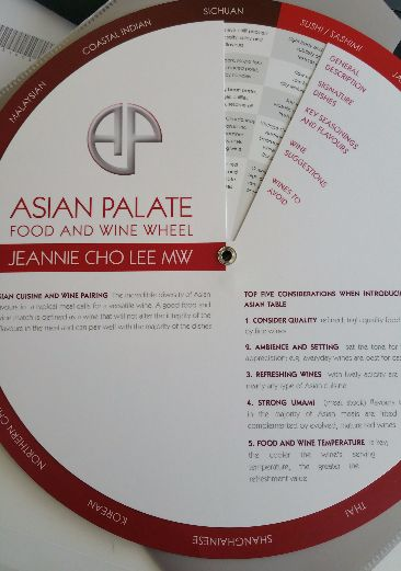 food and wine wheel - Asian Palate