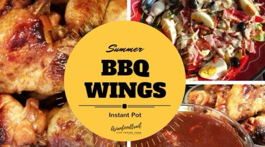 BBQ wings Instant Pot dinner tonight