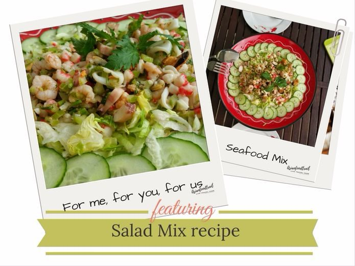 Seafood Salad, Asianfoodtrail recipe
